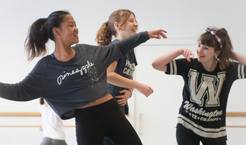 Dance classes for children and young people at The Place - young people dancing in studio