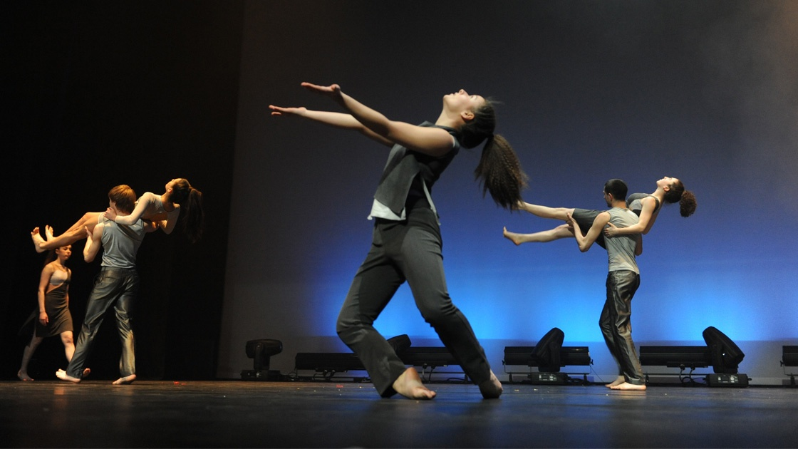 Shuft youth dance company The Place performing on stage