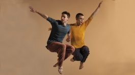 Richard Alston Dance Company - Nicholas Bodych and Liam Riddick in Nomadic. Photo by Chris Nash