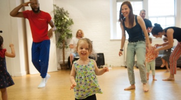 Family dance workshop at The Place